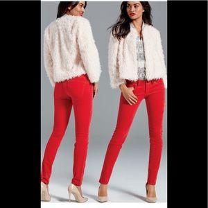 CABI Red Corduroy Skinny Pant